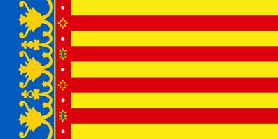 Valence espagne drapeau